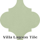 """Gray Green"" Arabesque Classic Cement Tile"