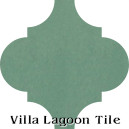 """Frosted Teal"" Arabesque Classic Cement Tile"