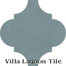 """Stone Blue"" Arabesque Classic Cement Tile"