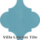 """Brilliant Sea"" Arabesque Classic Cement Tile"