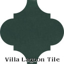 """Dark Teal"" Arabesque Classic Cement Tile"