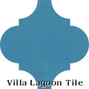 """Azure"" Arabesque Classic Cement Tile"