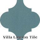 """Malibu Blue"" Arabesque Classic Cement Tile"