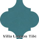 """Channel Blue"" Arabesque Classic Cement Tile"