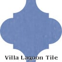 """Periwinkle"" Arabesque Classic Cement Tile"