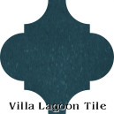 """Nile Blue"" Arabesque Classic Cement Tile"