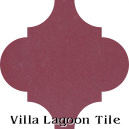 """Cranberry"" Arabesque Classic Cement Tile"