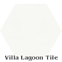 """White"" Hexagonal Cement Tile"