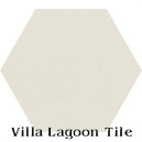 """Seashell White"" Hexagonal Cement Tile"