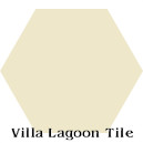 """Whipped Cream"" Hexagonal Cement Tile"