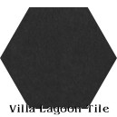 """Black"" Hexagonal Cement Tile"