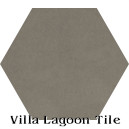 """Earthen Gray"" Hexagonal Cement Tile"