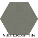 """Gray Patina"" Hexagonal Cement Tile"