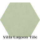 """Gray Green"" Hexagonal Cement Tile"
