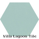 """Seaside Blue"" Hexagonal Cement Tile"