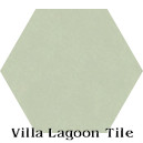 """Smoke Blue"" Hexagonal Cement Tile"