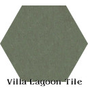 """Dark Seaweed"" Hexagonal Cement Tile"