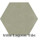 """Dry Sage"" Hexagonal Cement Tile"