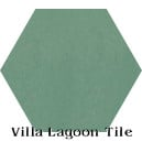 """Frosted Teal"" Hexagonal Cement Tile"