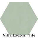 """Pale Jade"" Hexagonal Cement Tile"