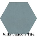 """Stone Blue"" Hexagonal Cement Tile"
