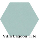 """Velvet Sky"" Hexagonal Cement Tile"