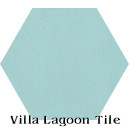 """Miami Blue"" Hexagonal Cement Tile"