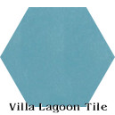 """Brilliant Sea"" Hexagonal Cement Tile"