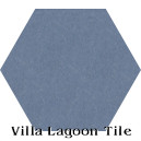 """Washed Denim"" Hexagonal Cement Tile"