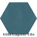 """Moonlit Sky"" Hexagonal Cement Tile"