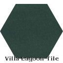 """Dark Teal"" Hexagonal Cement Tile"