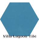"""Azure"" Hexagonal Cement Tile"