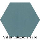 """Malibu Blue"" Hexagonal Cement Tile"