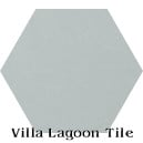 """Arctic Gray"" Hexagonal Cement Tile"