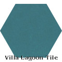 """Channel Blue"" Hexagonal Cement Tile"