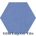 """Periwinkle"" Hexagonal Cement Tile"