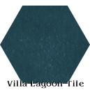 """Nile Blue"" Hexagonal Cement Tile"