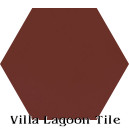 """Bold Brick"" Hexagonal Cement Tile"