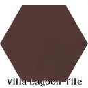 """Eagle Brown"" Hexagonal Cement Tile"