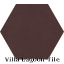 """Cocoa"" Hexagonal Cement Tile"