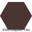 """Burnt Umber"" Hexagonal Cement Tile"
