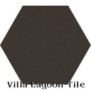 """Espresso"" Hexagonal Cement Tile"