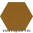 """Deep Mustard"" Hexagonal Cement Tile"