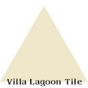 """Whipped Cream"" Troika Triangle Cement Tile"