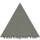 """Gray Patina"" Troika Triangle Cement Tile"