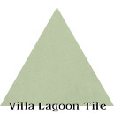 """Gray Green"" Troika Triangle Cement Tile"