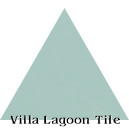 """Seaside Blue"" Troika Triangle Cement Tile"