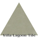 """Dry Sage"" Troika Triangle Cement Tile"