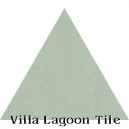 """Pale Jade"" Troika Triangle Cement Tile"