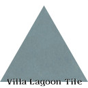 """Stone Blue"" Troika Triangle Cement Tile"